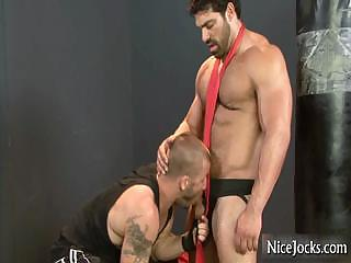 Massive muscled defy gets dick sucked part4
