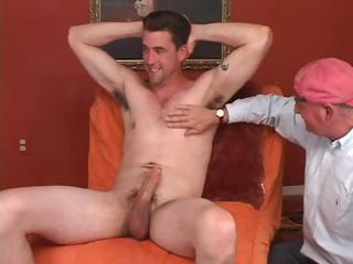 Old gay dude never thought he'd acquire so lucky as to have a piece be incumbent on young cock at all times
