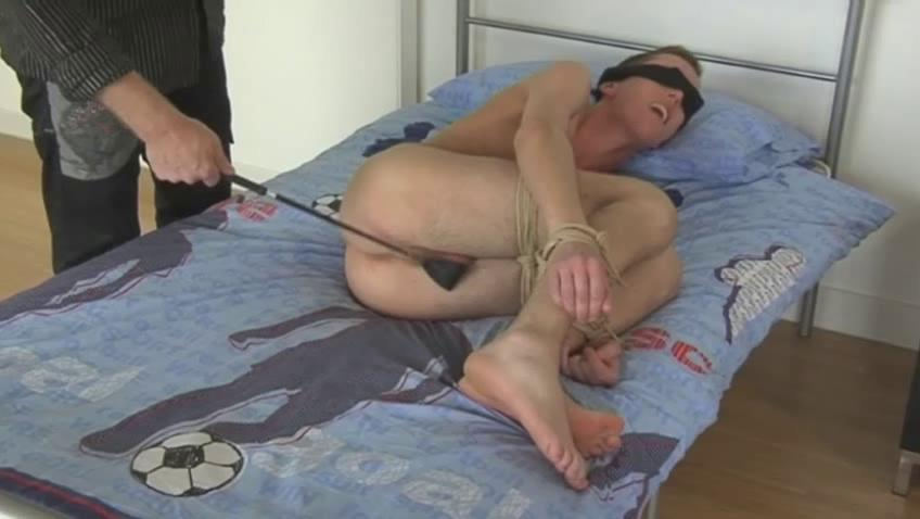 Pretty good blissful toff gets blindfolded back the addition of spanked back a horse whip