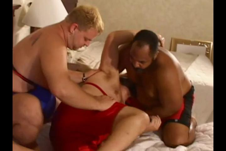 Three horny big wrestlers non-appearance some hot harmful coitus