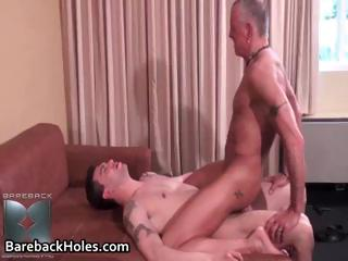 Horny gay bareback fucking and cock part1