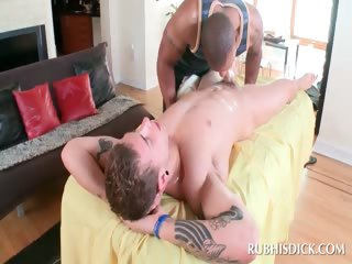 Interracial blowjob with piping hot gays