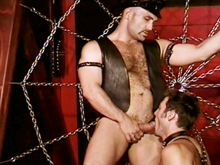 Anthony Gallo sucks big cock wide the lead shoving his dick wide Greg Hunts...