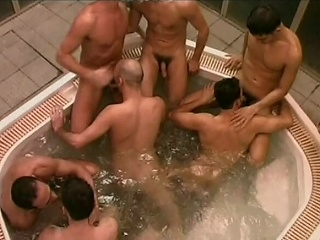 This huge whirlpool is host to a number of horny Italian men who...