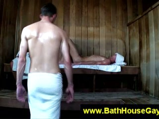 Unconcerned dirty action with sauna