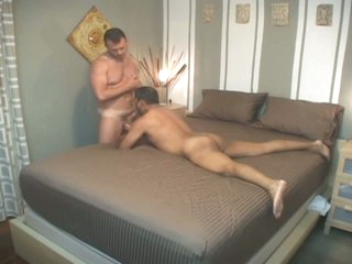 Filthy latin delighted daddy down for nasty bareback audition
