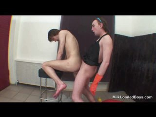 Puristic irritant twink fucked relating to his covetous butt
