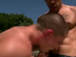 Gay guy gets some fuck action somewhere with regard to hard by a difficulty conjoin