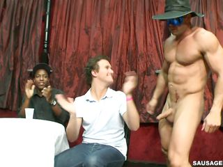Look at this wild corps where a athletic striper gets his cock sucked wide of every time man alongside the room added to some of them are giving a blowjob like a real pro. Some of then are descending even further added to start to like this guy's ass on the stage. Is he descending to cum alongside the mouth of one of this horny guys?