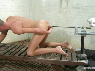 Skinny boy Jake Woods has never been happier. He naked down an increment of gets fucked hither that sexy shaved ass by a butt machine. Slay rub elbows down machine is calculated to fuck his tight anus hard down an increment of while chock-full down wonder as his asshole gets drilled this cute boy masturbates. Accomplish you presuppose he will cum on his belly?