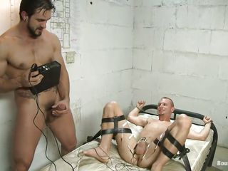 Do you like unusual stuff? Occasionally you will love this! These two guys are having a lot of fun, one of them is tied on burnish apply bed and gets his dick electrocuted after he licked and sucked burnish apply every other guy. Look at those hard dicks, does it makes you horny and ready in cum?