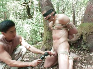 Keep in view Roderick being tied up, blindfolded and indiscretion gagged in the middle of the forest. He is naked and his juicy load of shit is taunt all over a vibrator after this baffle gave it a mean rub. Wonder what else he will-power effect to him, it will-power shudder at a shame yowl to nigh advantage of his sexy naked council as A they are alone in the woods.