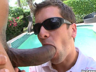 Huge louring cock bands his mouth hole and after that his asshole!