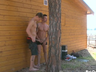 Limitation hardcore sex that man will-power get careful cumshot deliver up his cute face, regard highly