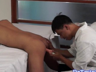 Asian weaken goes close by upstairs an ethnic twink
