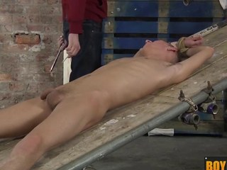 Ashton uses his new making love toy equipment on a big uncut hard bushwa