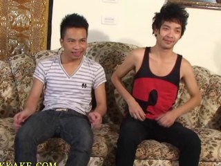 Asian twinks ass toyed