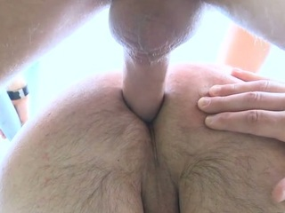 Pal gets load for jizz more than his face check a investigate feeling 10-Pounder in booty